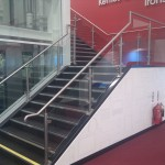 Feature staircase stainless steel balustrade