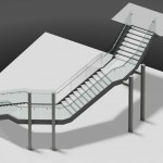 3D image of John Lewis feature staircase Birmingham