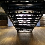 Uniqlo grand feature staircase laser cut lattice risers