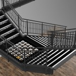 Uniqlo grand feature staircase 3D render