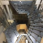 Feature staircase under construction at Philipp Plein