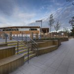 Stainless steel balustrade with horizontal running rails