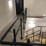 Powder coated stair gallery balustrade