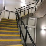 Powder coated stair balustrade