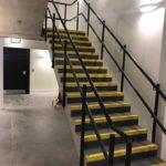 Powder coated stair balustrade