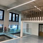Bronze mild steel balustrade to stairs and gallery